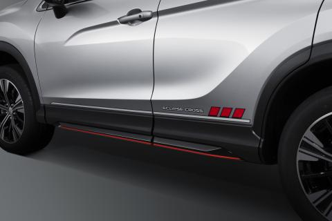 Mitsubishi Eclipse Cross decal on the side of the car door