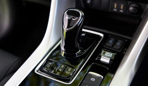 The drive mode controls for the Mitsubishi Eclipse Cross PHEV