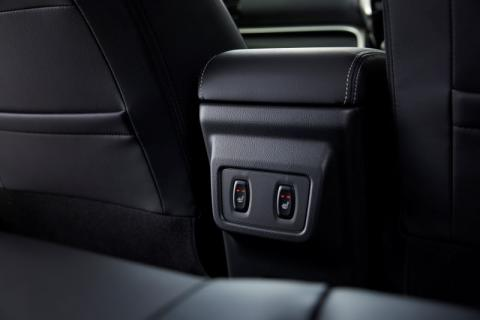 The switches for the heated seats in the Mitsubishi Eclipse Cross PHEV
