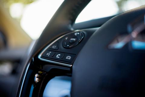 Outlander steering wheel communication buttons