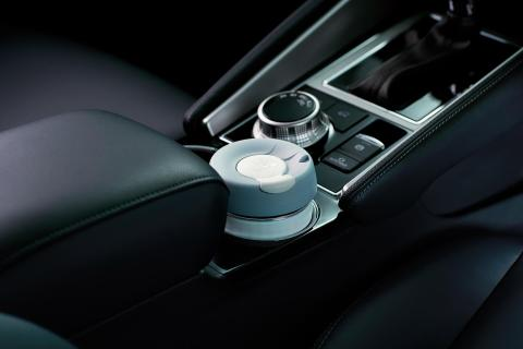 A close shot of cup holder in Pajero Sport
