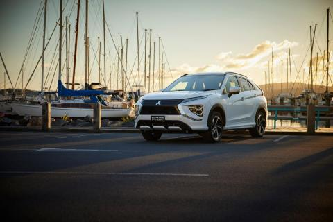 A Mitsubishi Eclipse Cross parked in the City of Sails